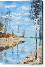 Acrylic Print featuring the painting Somewhere In Dalarna by Martin Howard