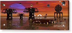 Acrylic Print featuring the digital art Somewhere In Space by Jacqueline Lloyd