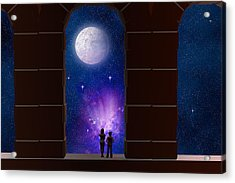 Somewhere In Time And Space Acrylic Print by Carol and Mike Werner