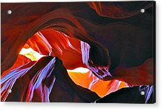 Acrylic Print featuring the photograph Somewhere In Waves In Antelope Canyon by Lilia D