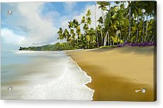 Acrylic Print featuring the digital art Somewhere Near Forever by Anthony Fishburne