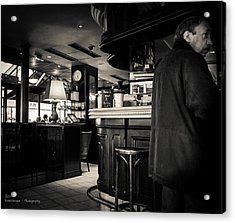 Somewhere On The Seine - For Eugene Atget Acrylic Print by Ross Henton