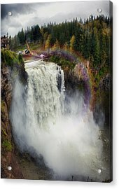Somewhere Over The Falls Acrylic Print by James Heckt