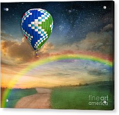 Somewhere Over The Rainbow Acrylic Print by Juli Scalzi