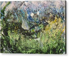Acrylic Print featuring the painting Somewhere by Ron Richard Baviello