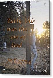 Son Of God Acrylic Print by Sharon Elliott