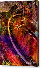 Song And Dance Digital Guitar Art By Steven Langston Acrylic Print by Steven Lebron Langston