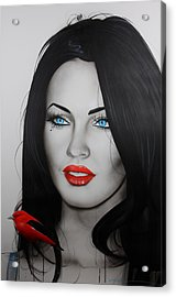 Megan Fox - ' Song Bird ' Acrylic Print
