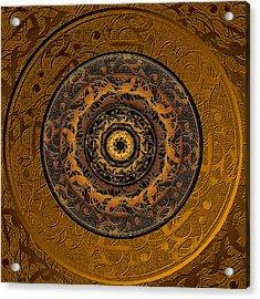 Song Of Heaven Mandala Acrylic Print by Michele Avanti