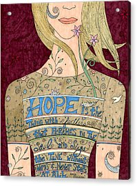 Song Of Hope Acrylic Print by Valerie Lorimer