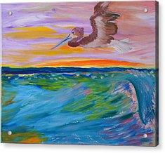 Acrylic Print featuring the painting Song Of The Sea by Meryl Goudey