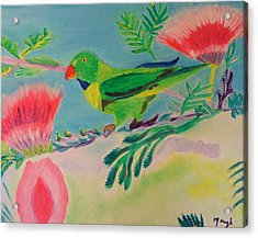 Acrylic Print featuring the painting Songbird by Meryl Goudey