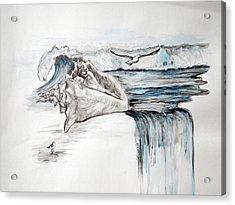Sonido Del Mar Acrylic Print by Gladiola Sotomayor