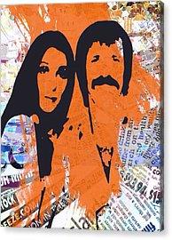 Sonny And Cher Acrylic Print by Trisha Buchanan
