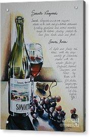 Sonoita Vineyards Acrylic Print by Alessandra Andrisani