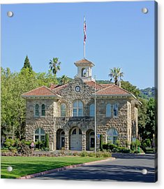 Sonoma City Hall Acrylic Print by Jenny Hudson