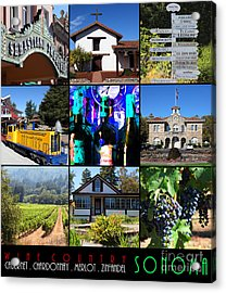 Sonoma County Wine Country 20140906 With Text Acrylic Print