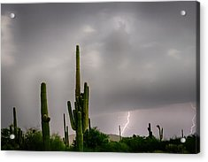 Sonoran Monsoon Lightning Thunderstorm Delight Acrylic Print by James BO  Insogna