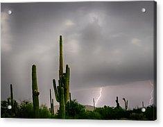 Sonoran Monsoon Lightning Thunderstorm Delight Acrylic Print