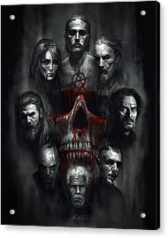 Sons Of Anarchy Tribute Acrylic Print