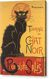 Soon The Black Cat Tour By Rodolphe Salis  Acrylic Print by Tracey Harrington-Simpson