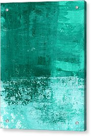 Soothing Sea - Abstract Painting Acrylic Print by Linda Woods