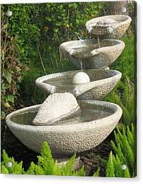 Acrylic Print featuring the photograph Soothing Sounds Water Fountains by Ella Kaye Dickey