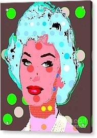 Sophia Loren Acrylic Print by Ricky Sencion