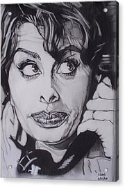 Sophia Loren Telephones Acrylic Print by Sean Connolly