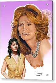 Acrylic Print featuring the digital art Sophia Loren by Thomas J Herring