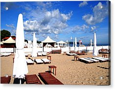 Sopot Resort On The Baltic Acrylic Print by Jacqueline M Lewis
