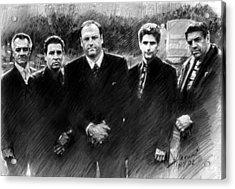 Sopranos James Gandolfini Acrylic Print by Viola El
