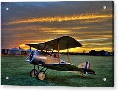 Sopwith Sunset Acrylic Print