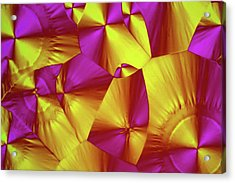 Sorbitol Crystals Acrylic Print by John Durham