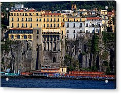 Acrylic Print featuring the photograph Sorrento Coast Line by Uri Baruch
