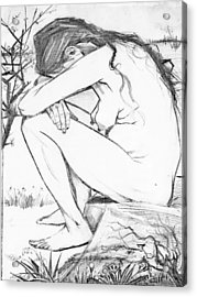 Sorrow After Vincent Van Gogh  Acrylic Print by Tracey Harrington-Simpson