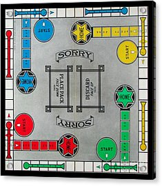 Sorry Board Game Acrylic Print by Steven Parker
