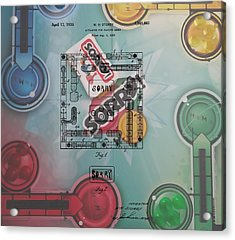 Sorry Game Patent Acrylic Print by Dan Sproul