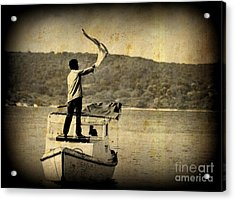 Sos   Need Gas To Get To Shore Acrylic Print by John Malone