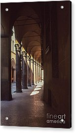 Sotto I Portici Acrylic Print by Carol Weitz