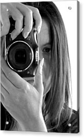 Soul-searching - Self-portrait Acrylic Print by Marianna Mills