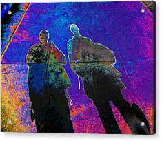 souls of 2 Veterans walking on Broadway - Glendale that is v3 Acrylic Print