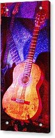 Acrylic Print featuring the photograph Sound Bites Niche Art Guitars by Bob Coates