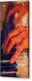 Acrylic Print featuring the photograph Sound Bites Niche Art The Hands Of Joel by Bob Coates