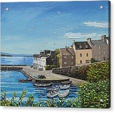 Sound Of Seagulls Roundstone Connemara Ireland Acrylic Print