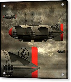 Sound Zeppelins Acrylic Print by Milton Thompson