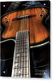 Sounding Off Digital Guitar Art Bt Steven Langston Acrylic Print by Steven Lebron Langston