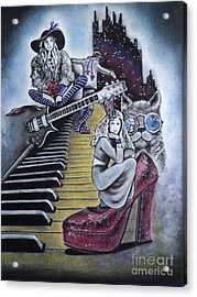 Sounds Of The 70s Acrylic Print by Carla Carson