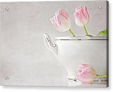 Soup Of Tulips Acrylic Print by Claudia Moeckel
