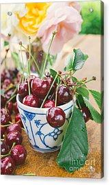 Sour Cherries Acrylic Print by Viktor Pravdica